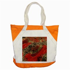 Red Gold Black Background Accent Tote Bag