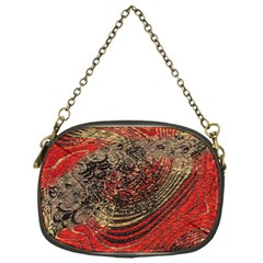 Red Gold Black Background Chain Purses (one Side)