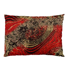 Red Gold Black Background Pillow Case