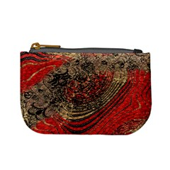 Red Gold Black Background Mini Coin Purses