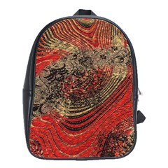 Red Gold Black Background School Bags(large)
