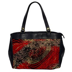 Red Gold Black Background Office Handbags