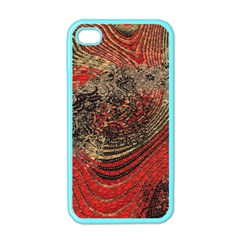 Red Gold Black Background Apple iPhone 4 Case (Color)