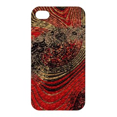Red Gold Black Background Apple Iphone 4/4s Hardshell Case