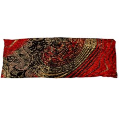 Red Gold Black Background Body Pillow Case Dakimakura (Two Sides)