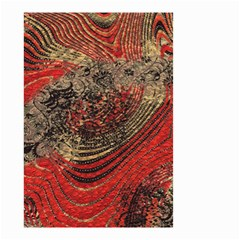 Red Gold Black Background Small Garden Flag (two Sides)