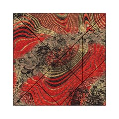 Red Gold Black Background Acrylic Tangram Puzzle (6  X 6 )
