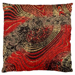 Red Gold Black Background Large Cushion Case (two Sides)