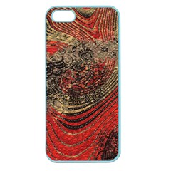 Red Gold Black Background Apple Seamless Iphone 5 Case (color)