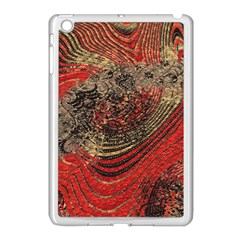 Red Gold Black Background Apple iPad Mini Case (White)
