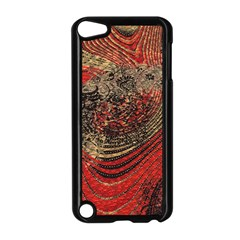 Red Gold Black Background Apple iPod Touch 5 Case (Black)