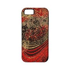Red Gold Black Background Apple iPhone 5 Classic Hardshell Case (PC+Silicone)