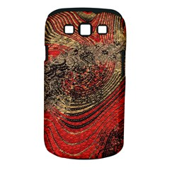 Red Gold Black Background Samsung Galaxy S III Classic Hardshell Case (PC+Silicone)