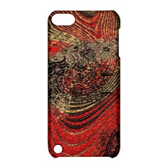 Red Gold Black Background Apple iPod Touch 5 Hardshell Case with Stand