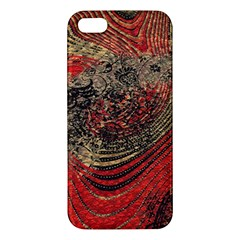 Red Gold Black Background Apple Iphone 5 Premium Hardshell Case