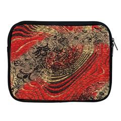 Red Gold Black Background Apple Ipad 2/3/4 Zipper Cases