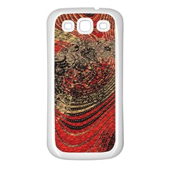 Red Gold Black Background Samsung Galaxy S3 Back Case (white)