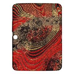 Red Gold Black Background Samsung Galaxy Tab 3 (10.1 ) P5200 Hardshell Case