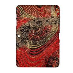 Red Gold Black Background Samsung Galaxy Tab 2 (10.1 ) P5100 Hardshell Case