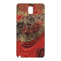 Red Gold Black Background Samsung Galaxy Note 3 N9005 Hardshell Back Case