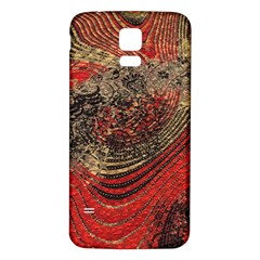 Red Gold Black Background Samsung Galaxy S5 Back Case (white)