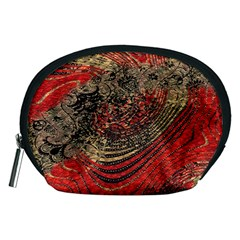 Red Gold Black Background Accessory Pouches (Medium)
