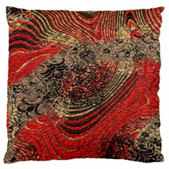 Red Gold Black Background Standard Flano Cushion Case (One Side)