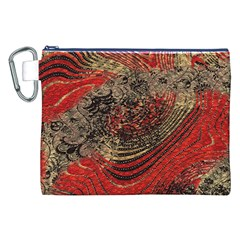 Red Gold Black Background Canvas Cosmetic Bag (XXL)