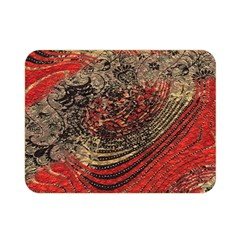 Red Gold Black Background Double Sided Flano Blanket (Mini)