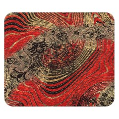 Red Gold Black Background Double Sided Flano Blanket (Small)