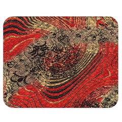 Red Gold Black Background Double Sided Flano Blanket (medium)