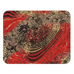 Red Gold Black Background Double Sided Flano Blanket (Large)