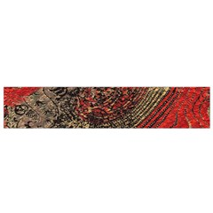 Red Gold Black Background Flano Scarf (Small)