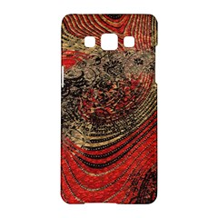 Red Gold Black Background Samsung Galaxy A5 Hardshell Case