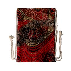 Red Gold Black Background Drawstring Bag (Small)