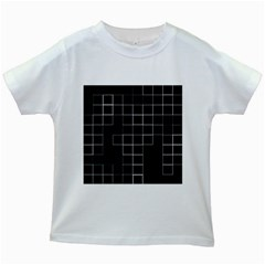 Abstract Clutter Kids White T-Shirts