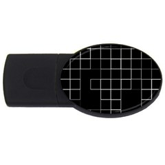 Abstract Clutter USB Flash Drive Oval (1 GB)