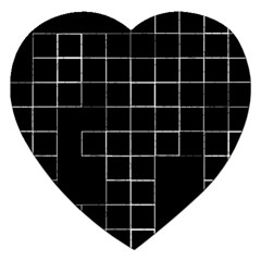 Abstract Clutter Jigsaw Puzzle (Heart)
