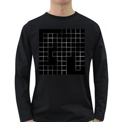 Abstract Clutter Long Sleeve Dark T-Shirts