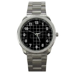 Abstract Clutter Sport Metal Watch
