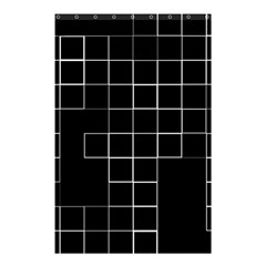 Abstract Clutter Shower Curtain 48  X 72  (small)