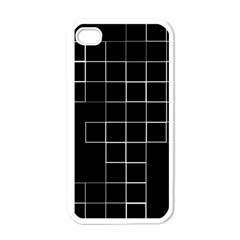 Abstract Clutter Apple iPhone 4 Case (White)