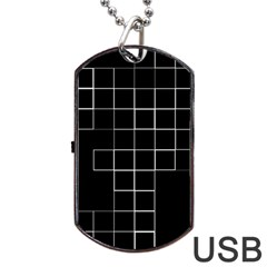 Abstract Clutter Dog Tag USB Flash (Two Sides)