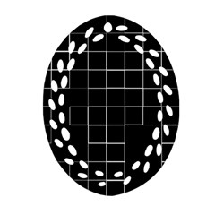 Abstract Clutter Oval Filigree Ornament (Two Sides)