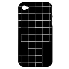 Abstract Clutter Apple iPhone 4/4S Hardshell Case (PC+Silicone)