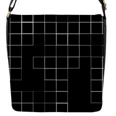 Abstract Clutter Flap Messenger Bag (S)