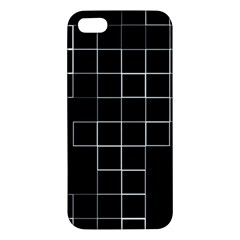 Abstract Clutter iPhone 5S/ SE Premium Hardshell Case
