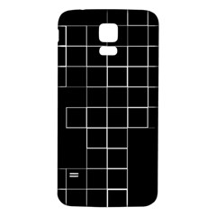 Abstract Clutter Samsung Galaxy S5 Back Case (White)