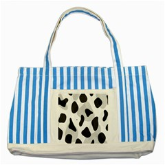 Abstract Venture Striped Blue Tote Bag