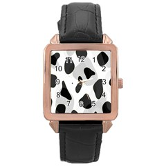 Abstract Venture Rose Gold Leather Watch